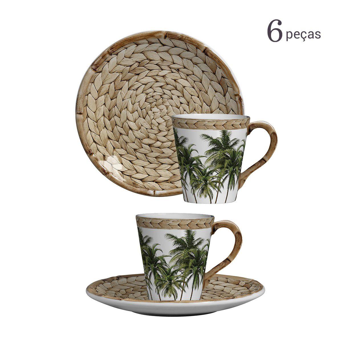 Jogo 6 Xícaras de Chá Trancoso Maison