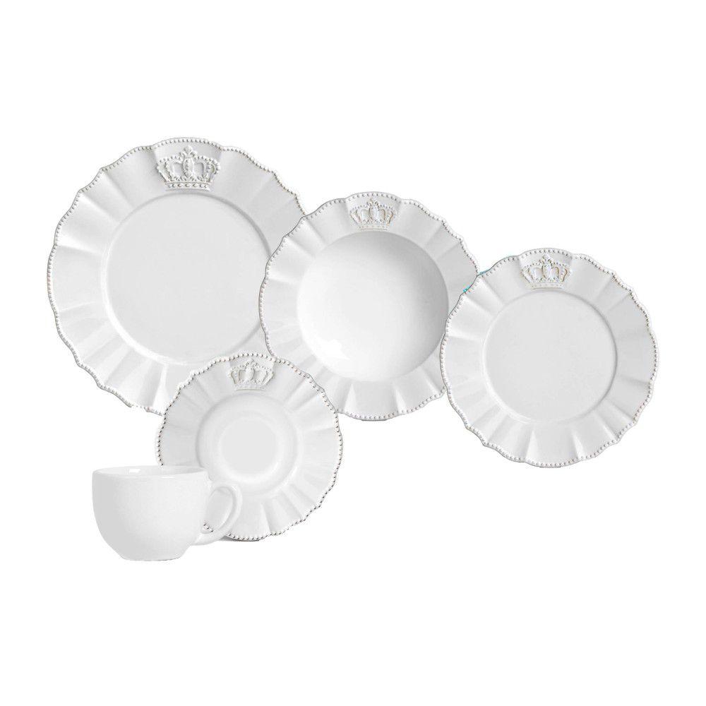 Jogo de Jantar 30pcs Windsor Premium Branco - Porto Brasil