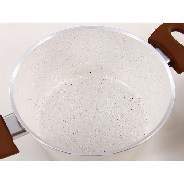 Jogo Panelas 5 pçs Cerâmica Life Vanila  4700/110  2.5 mm - Brinox