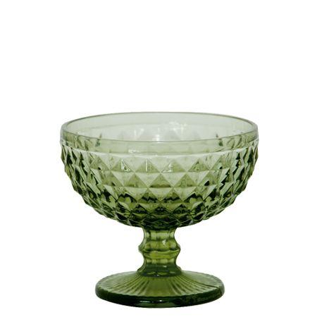 Jogo Taça Sobremesa Bico de Abacaxi Verde - MStyle