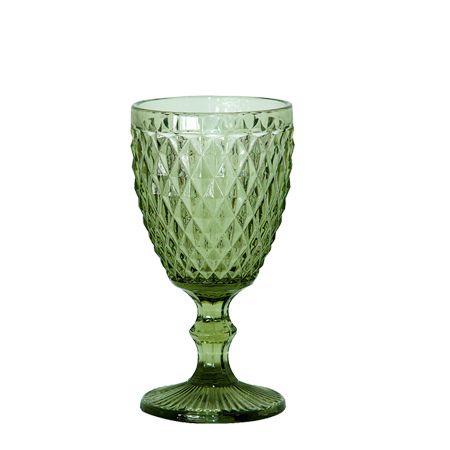 Jogo Taças Vinho Bico de Abacaxi Verde - MStyle