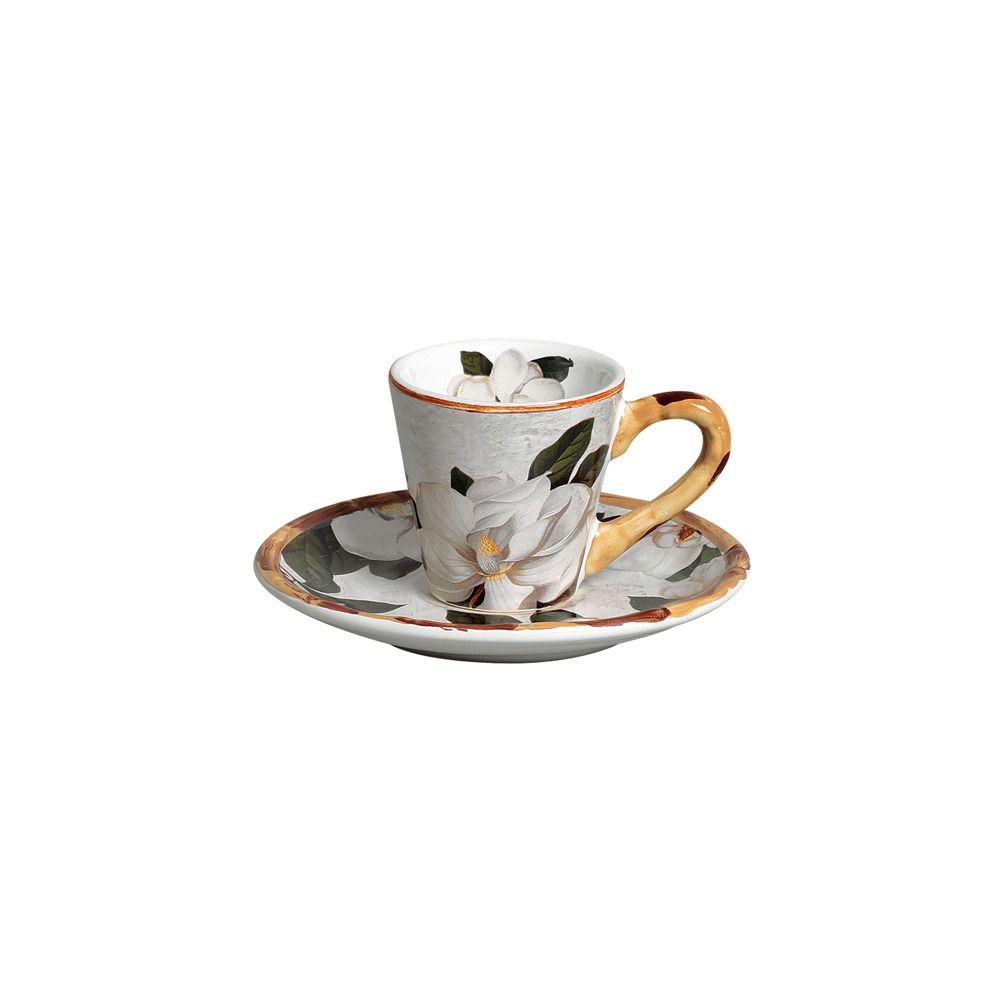 Jogo Xícaras Café Magnolia 9729 Maison Blanche