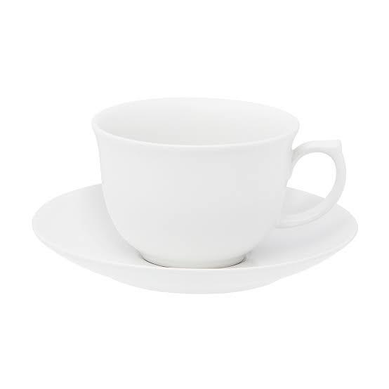 Jogo Xícaras de Chá com Pires 240ml - Flamingo White