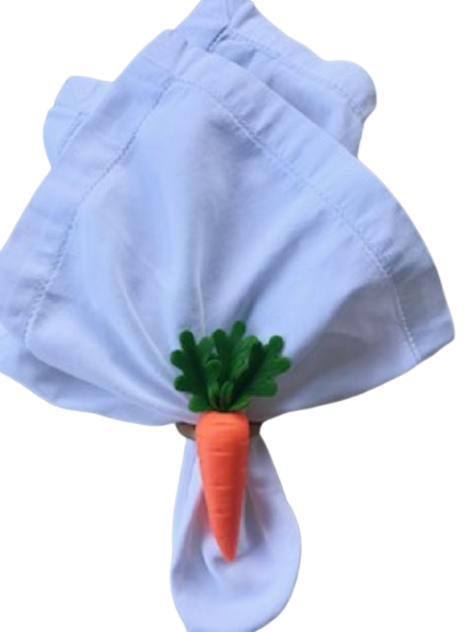 kit 8 anel de guardanapo cenoura
