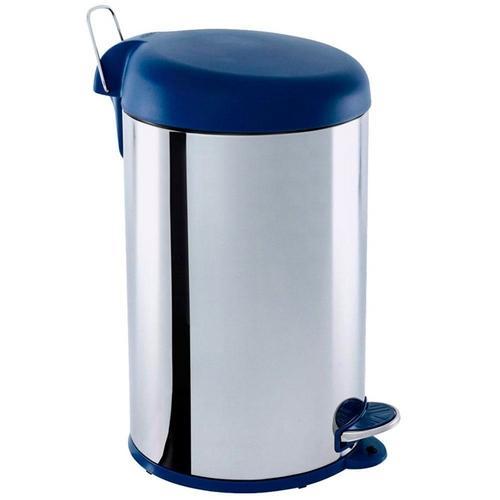 Lixeira Inox 3048/212 Azul 5 L - Brinox