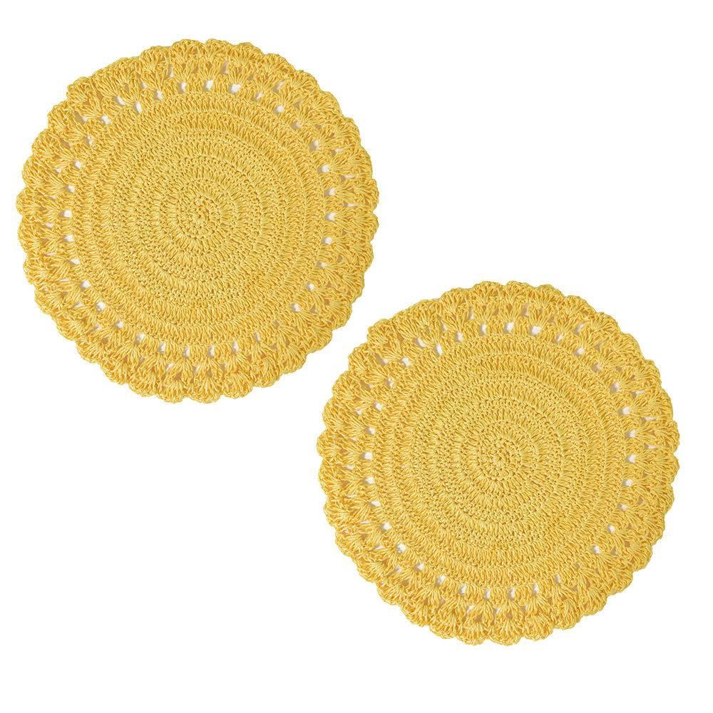 Lugar Americano Croche Amarelo JA1746AM - Mimo