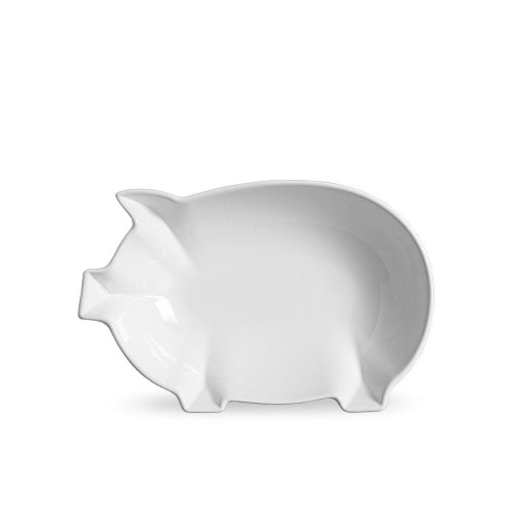 Tigela 5486 Porco Média 31x20x7,5cm -