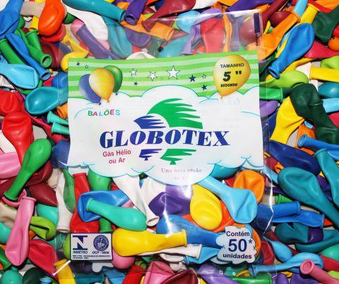 "Balões/Bexigas 5"" Redondo Globotex"