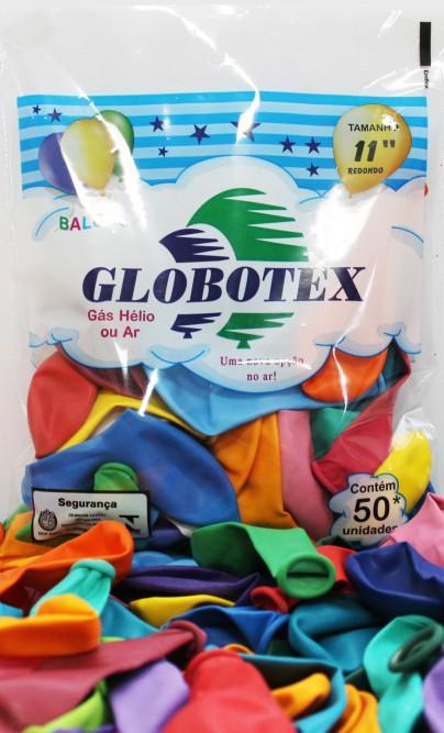 "Balões/Bexigas 11"" Redondo Globotex"