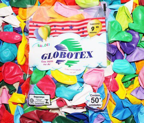 "Balões/Bexigas 9"" Redondo Globotex"