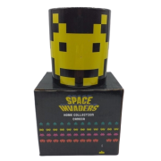 Caneca Porcelana Space Invaders Amarelo/Preto 300ml - Zona Criativa