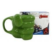 Caneca Punho Do Hulk 3D Zona Criativa Marvel Oficial