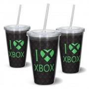 Copo Canudo 600ml I Love Xbox - Beek