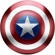 Escudo Capitão América 60cm Tamanho Real