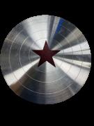 Escudo do Bucky Soldier Prateado 30cm Tamanho Real