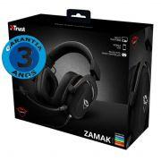 Headset Gamer: GXT Zamak Preto Multiplataforma - Trust
