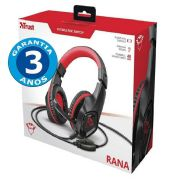 Headset Gamer: Rana Vermelho GXT 404R Switch/PC/Xbox One/PS4 - Trust