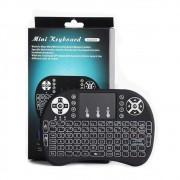 Mini Teclado Air Mouse Touch Sem Fio Wireless Com Luz