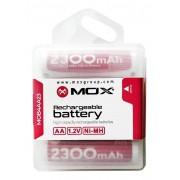 Pilha Recarregável AA Mox MOB4AA23 de 2.300 Mah-1.2v 4 Unidades