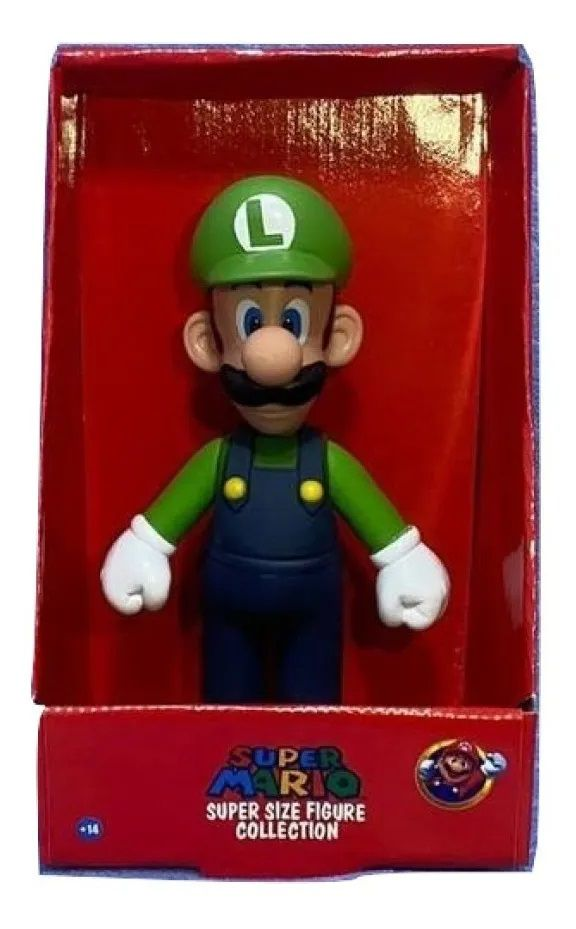 Boneco Super Size: Super Mario Collection - Luigi