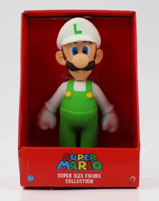Boneco Super Size: Super Mario Collection - Luigi Fire Branco