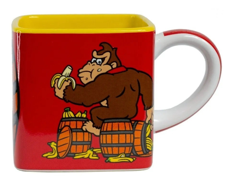 Caneca Cubo Quadrada Donkey Kong - Zona Criativa