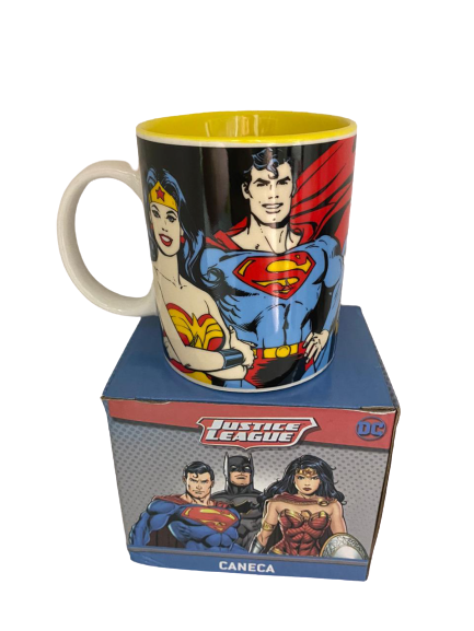 Caneca Porcelana DC Super Heroes 300ml