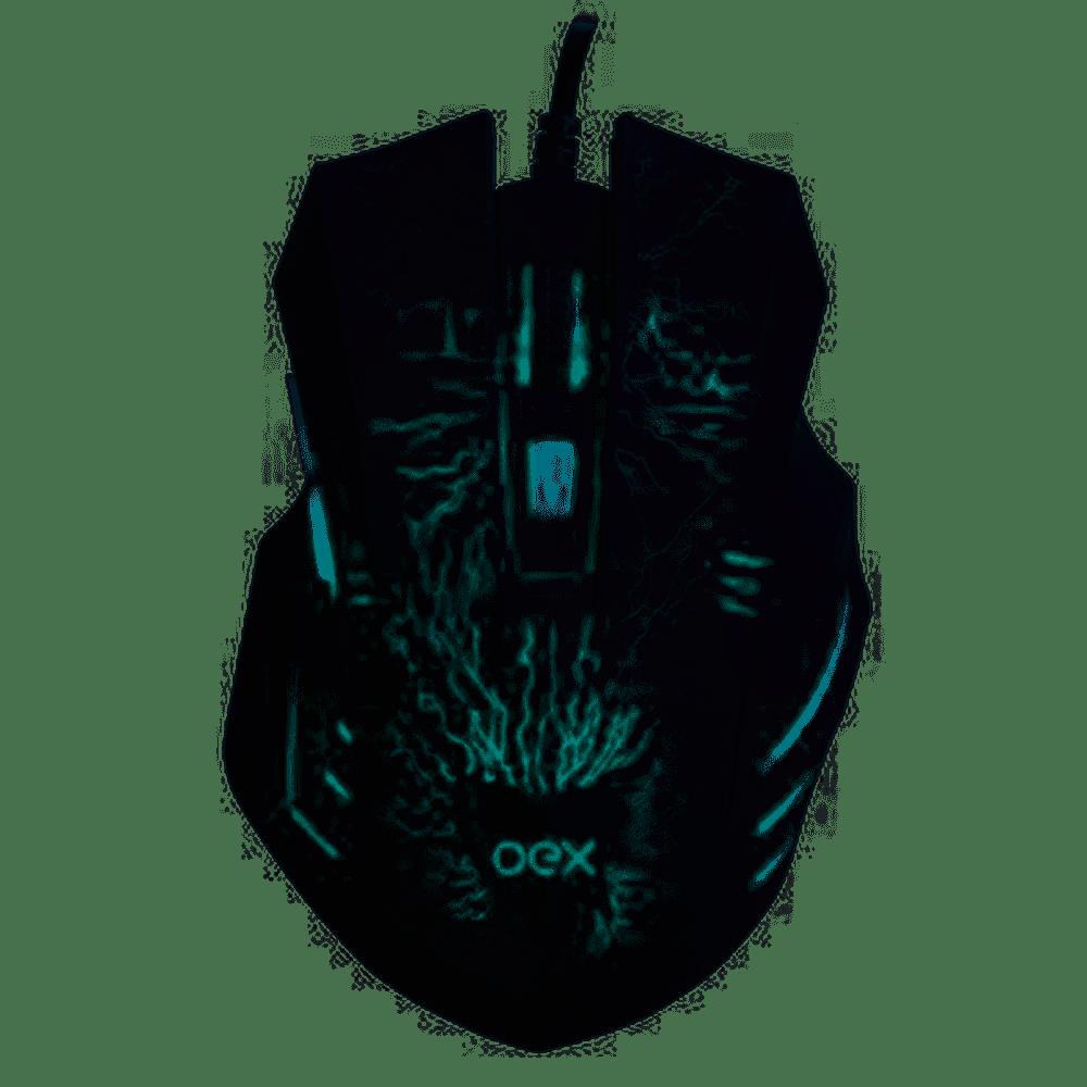 Combo Gamer Mouse E Mousepad 2400dpi Mc101 - Oex Game