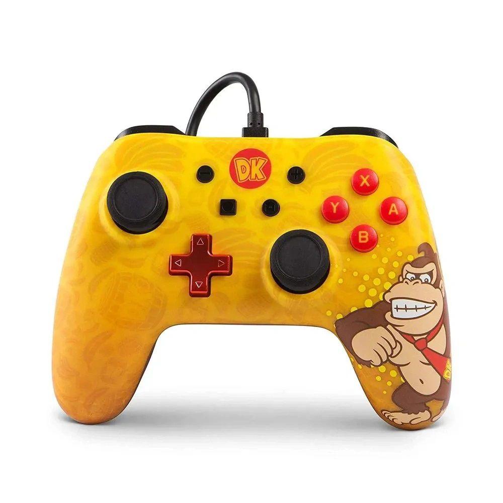 Controle Nintendo Switch: PowerA com fio Donkey Kong