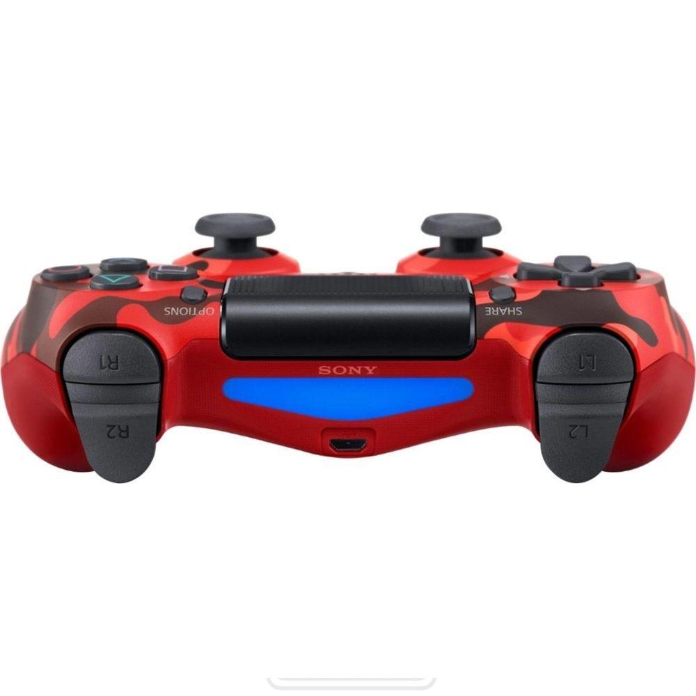 Controle para PS4 sem Fio Dualshock 4 Sony - Vermelho Camuflado