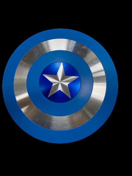 Escudo Capitão América  Azul Prateado 30cm Tamanho Real