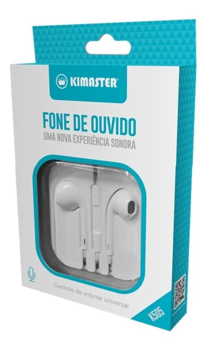 Fone Kimaster K505 Com Microfone Controle Volume IOS-Android