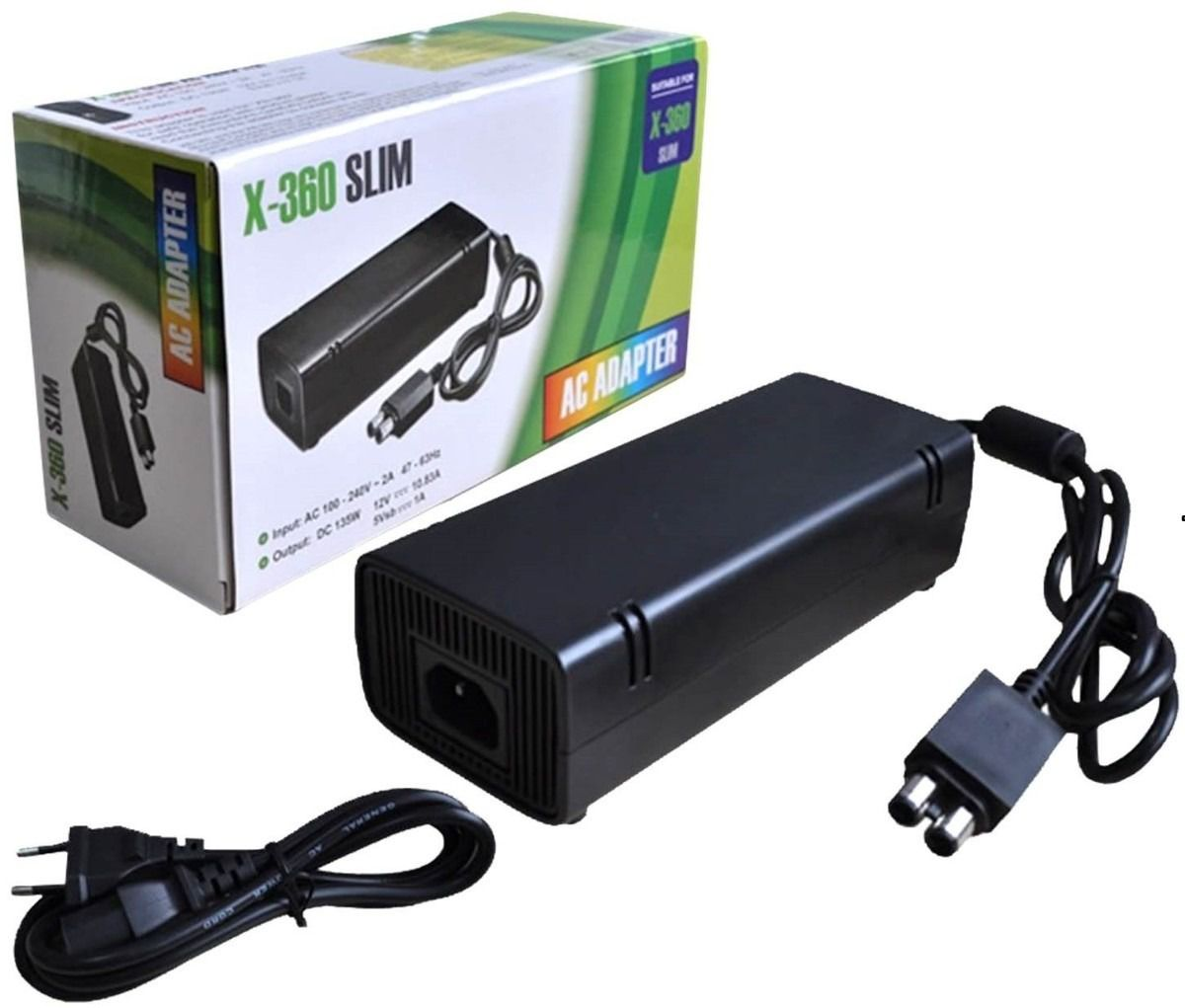 Fonte Para Game Xbox 360 Slim Ac Adapter Bivolt 110v 220v
