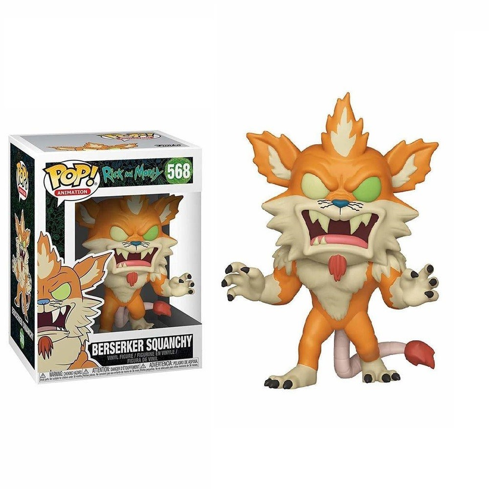 Funko Pop 568 Rick and Morty Berserker Squanchy