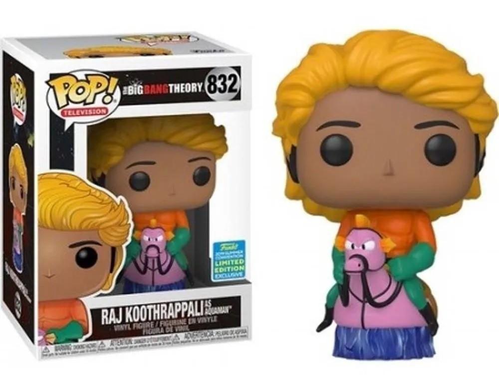 Funko Pop 832 The Big Bang Theory Raj Koothrappali Aquaman