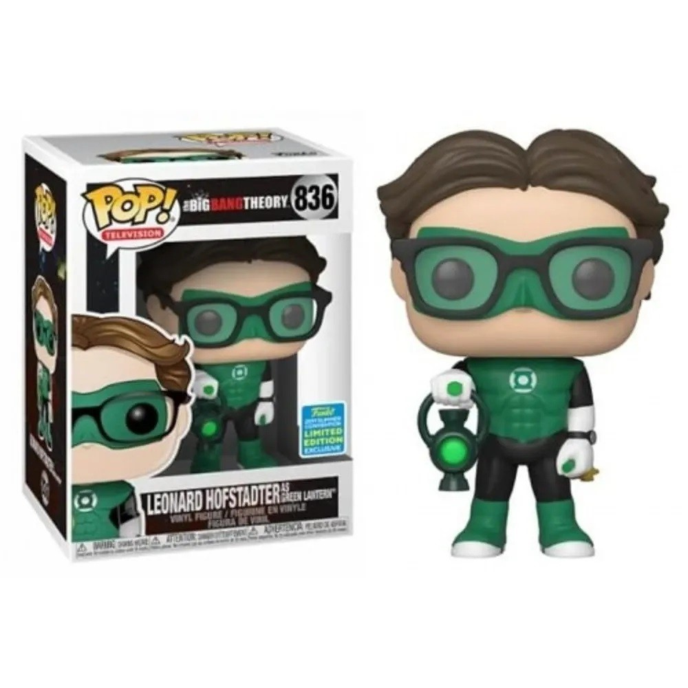 Funko Pop 836 The Big Bang Theory Leonard Hofstadter Green Lantern