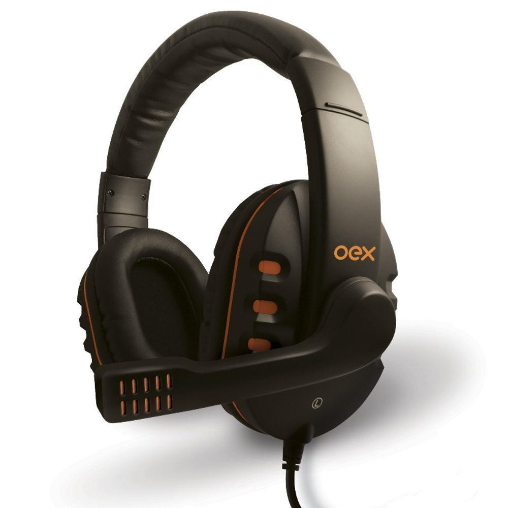 Headset Action HS200 - OEX - Microfone - Controle de volume - Alta definição