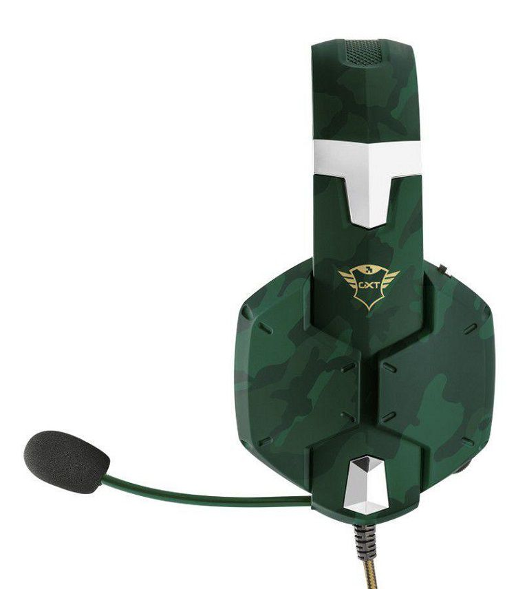 Headset Gamer Carus:  GXT 322C JUNGLE, SNOW, DESERT Multiplataforma - Trust