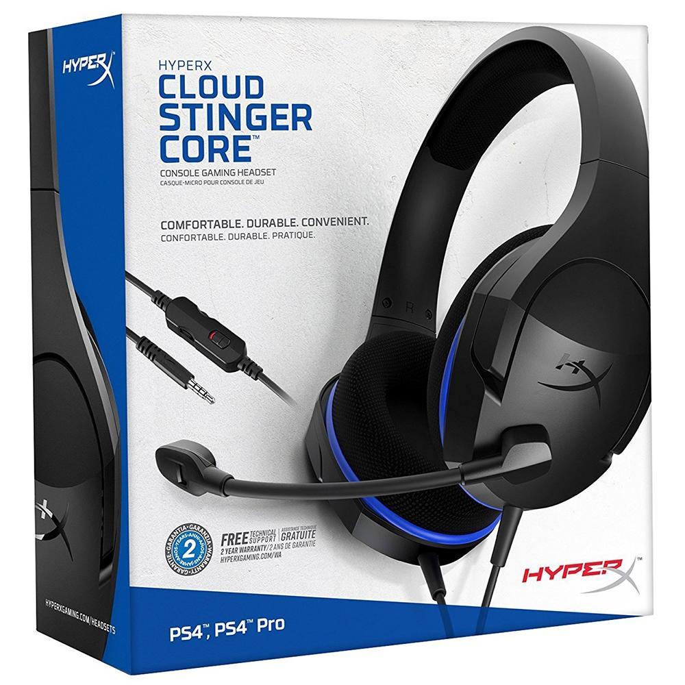 Headset Gamer Cloud Stinger Core HYPER-X Preto e Azul