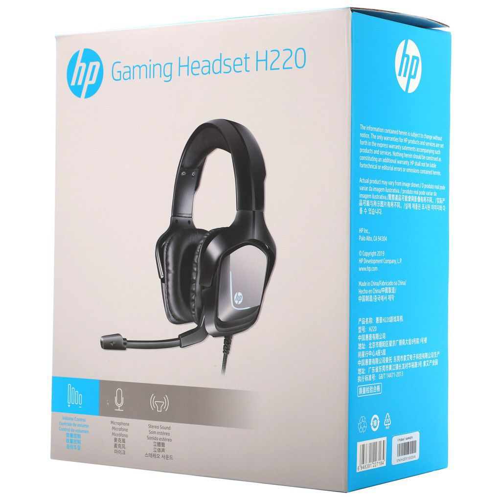 Headset Gamer: HP H220 Drivers 40mm - H220
