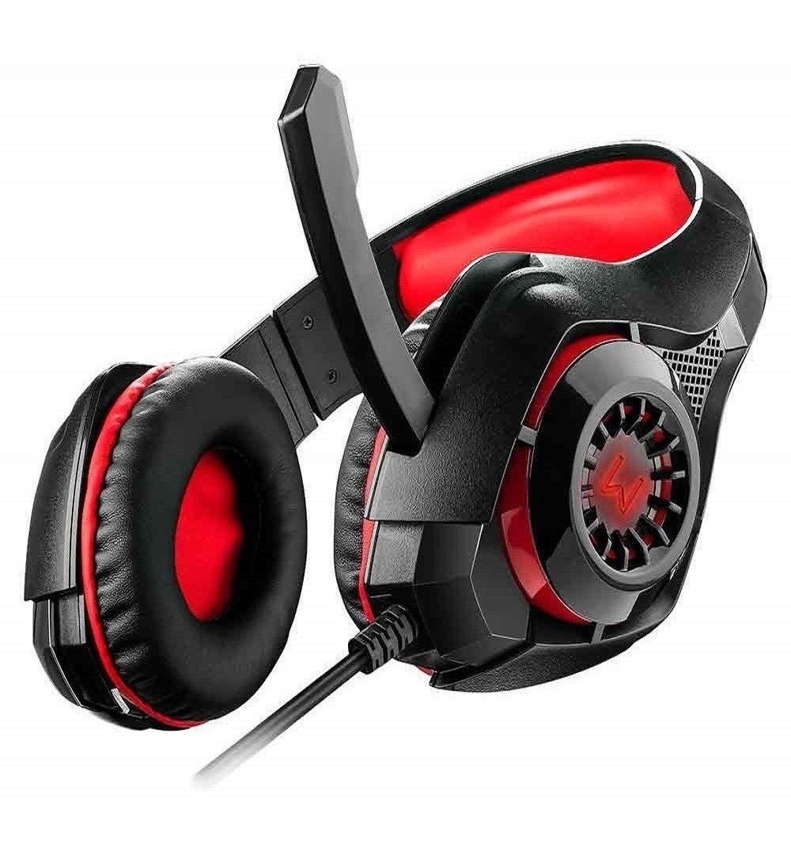 Headset Gamer Multilaser Warrior Rama P3 + USB Stereo Adaptador P2 LED - PH219