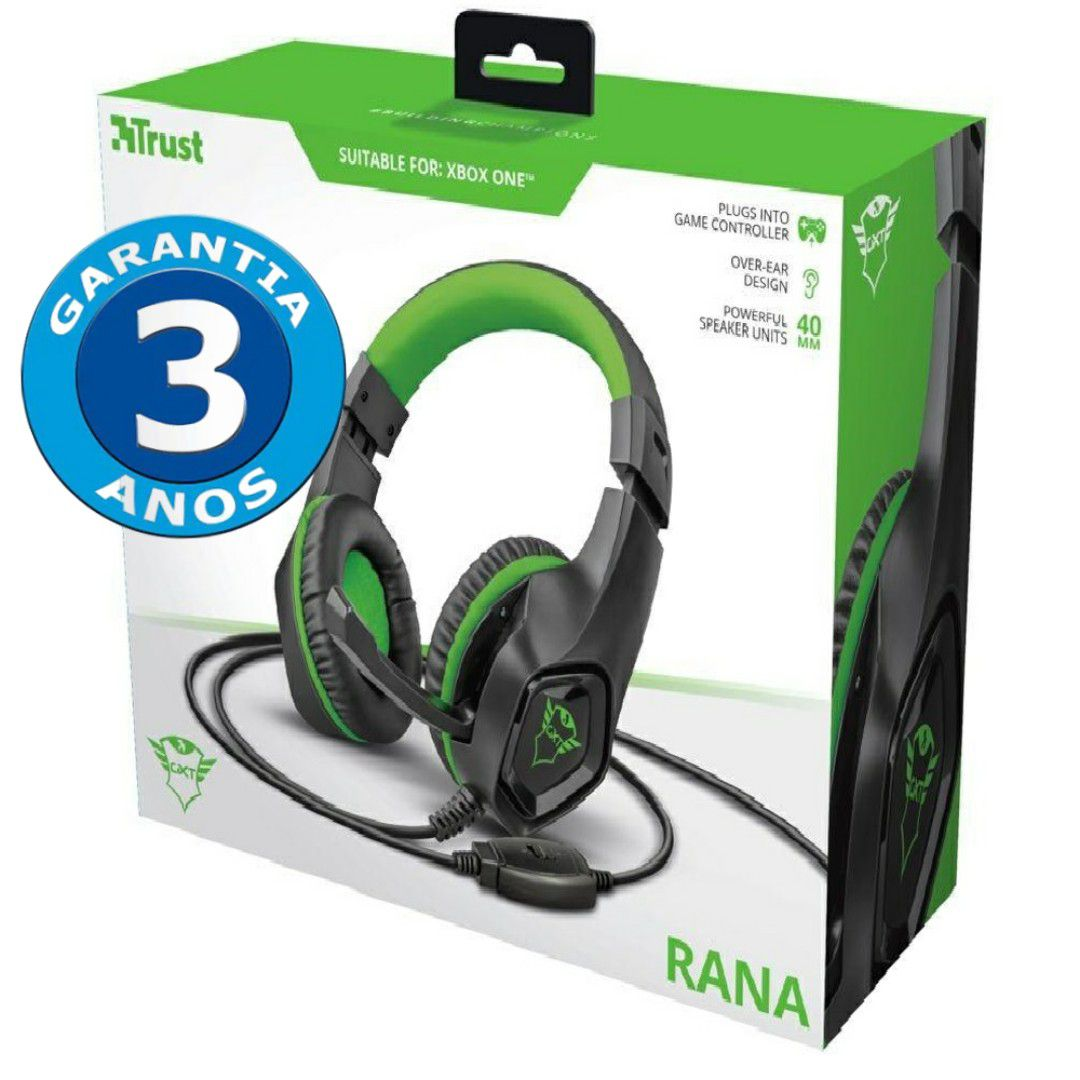 Headset Gamer: Rana Verde GXT 404G PC/Xbox One/PS4 - Trust