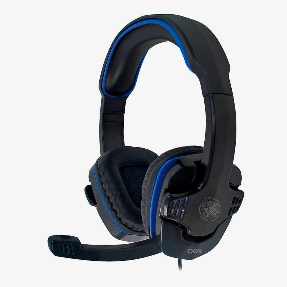 Headset Gamer USB OEX Stalker HS209 Multiplataforma com Microfone