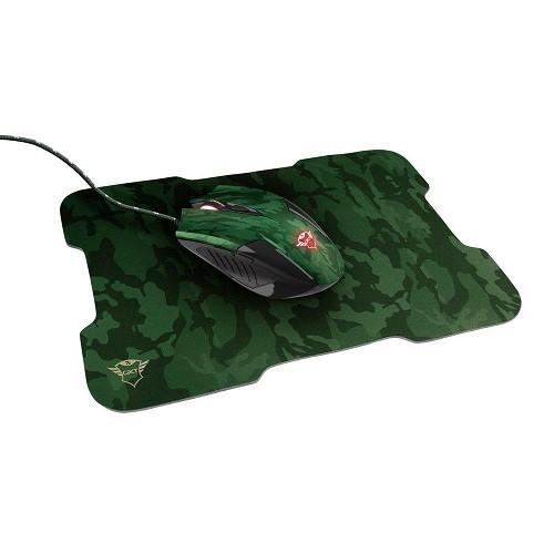 Kit Mouse e Mousepad Gamer: Rixa 3200 DPI com fio - Trust