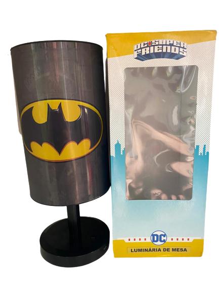 Luminária Abajur Batman DC Liga Da Justiça Preta