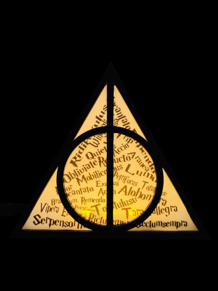 Luminária Relíquias da Morte - Harry Potter