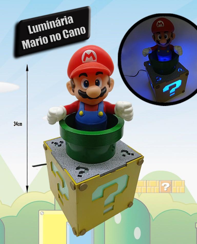 Luminária Mario no Cano
