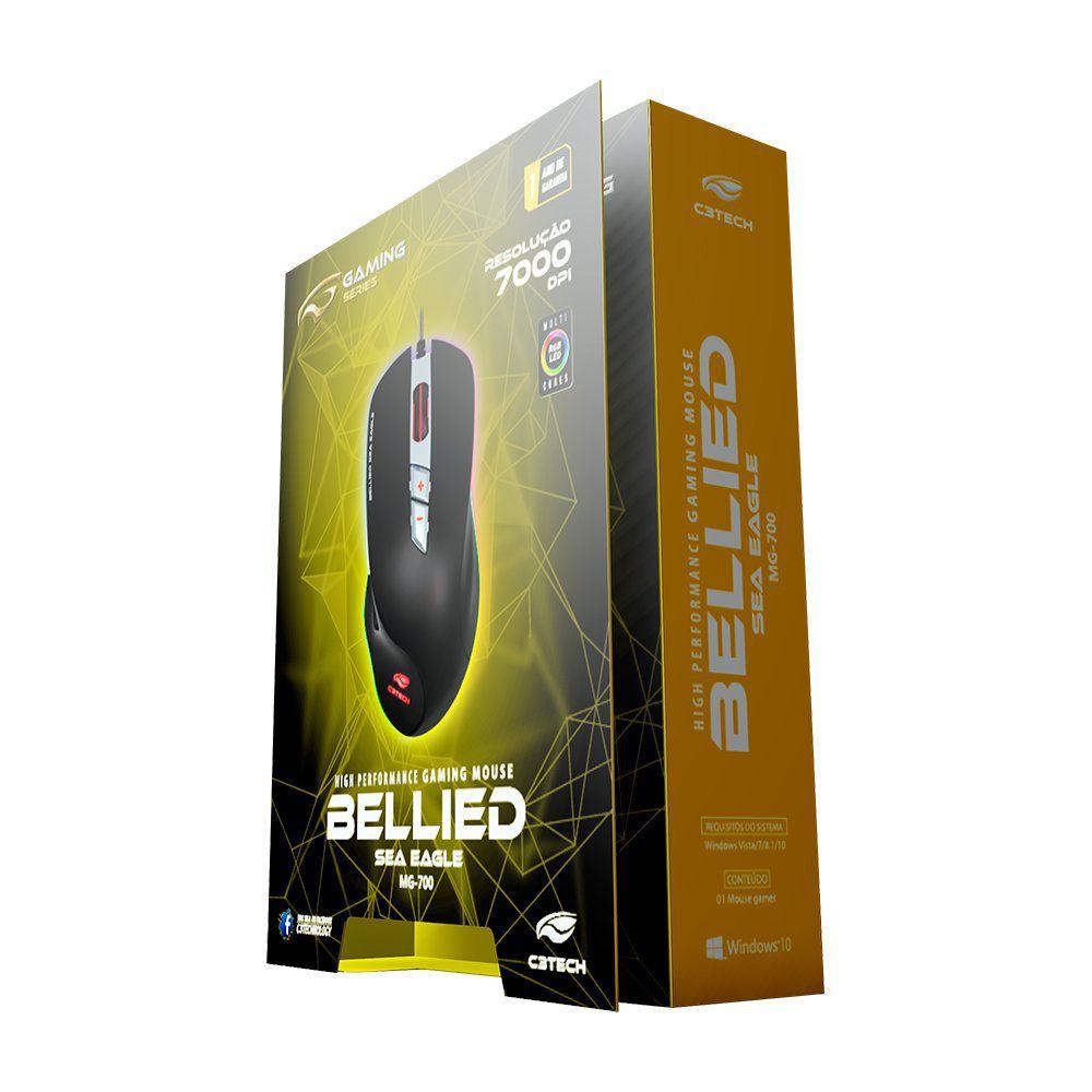 Mouse Gamer Bellied Sea Eagle C3TECH RGB 7000dpi MG-700BK