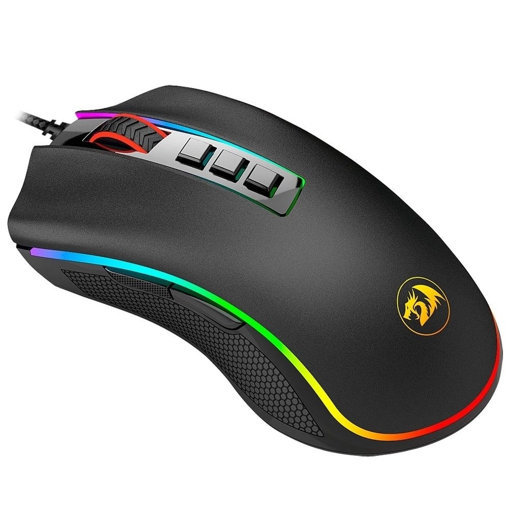 Mouse Gamer King Cobra FPS REDRAGON 24000dpi 7 Botões RGB Chroma