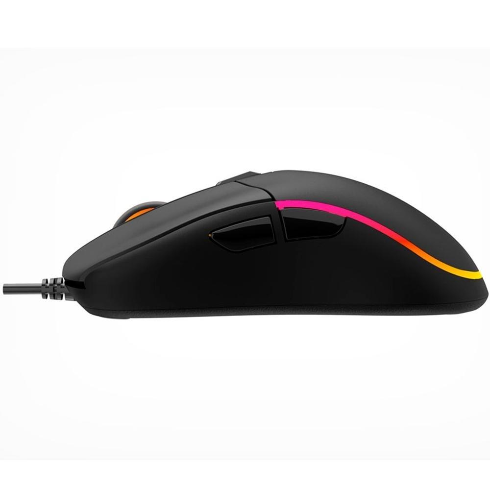 Mouse Gamer Quetzal C3TECH RGB 8 Botões 5000dpi MG-510BK